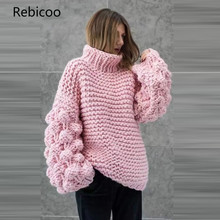 Turtleneck Women Sweaters and Pullovers 2019 Winter Pink Pullover Women Long Sleeve Tops Pulover Feminino pulover flora fedi href
