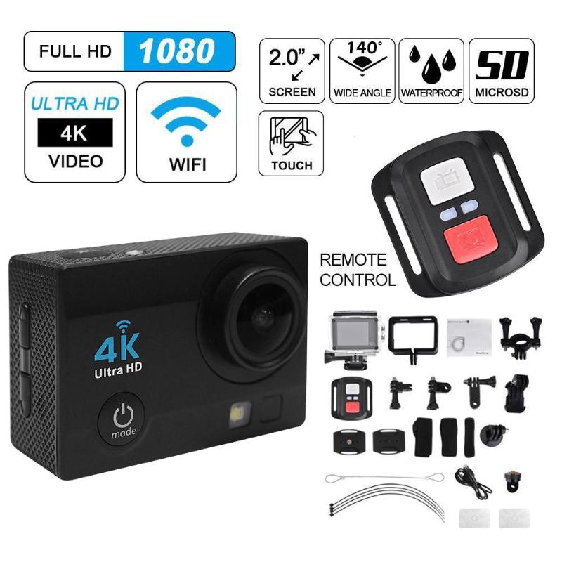 2.0 inch WiFi 1080P USB2.0 4K Ultra Action Camera 30m Waterproof 140 Degree Lens Sport DVR DV Camcorder with Remote Control image
