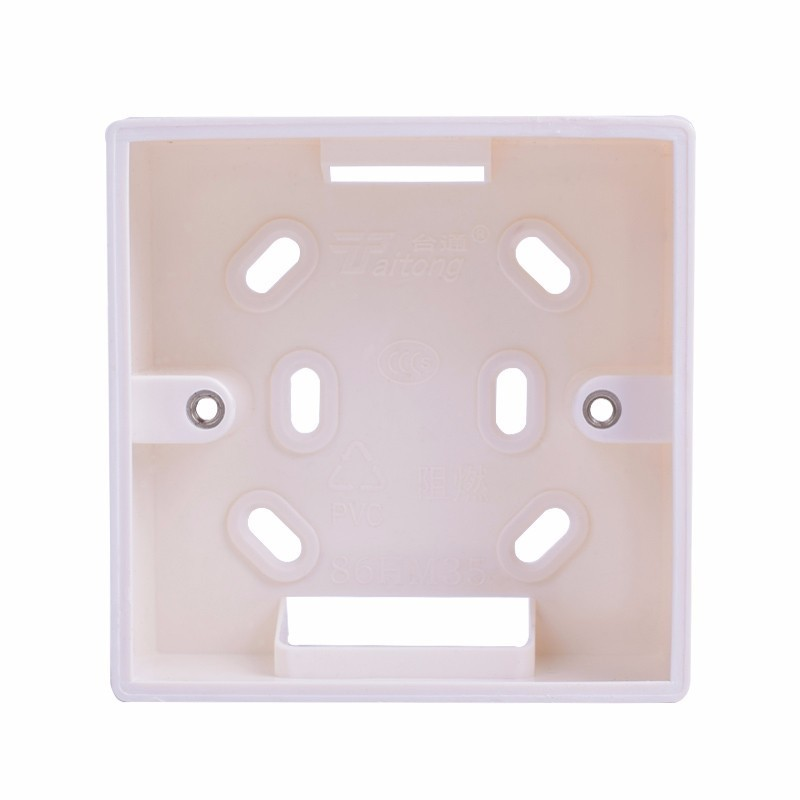 Coswall External Mounting Box 86mm*86mm*34mm For 86mm*86mm Standard Switches And Sockets Apply For Any Position Of Wall Surface