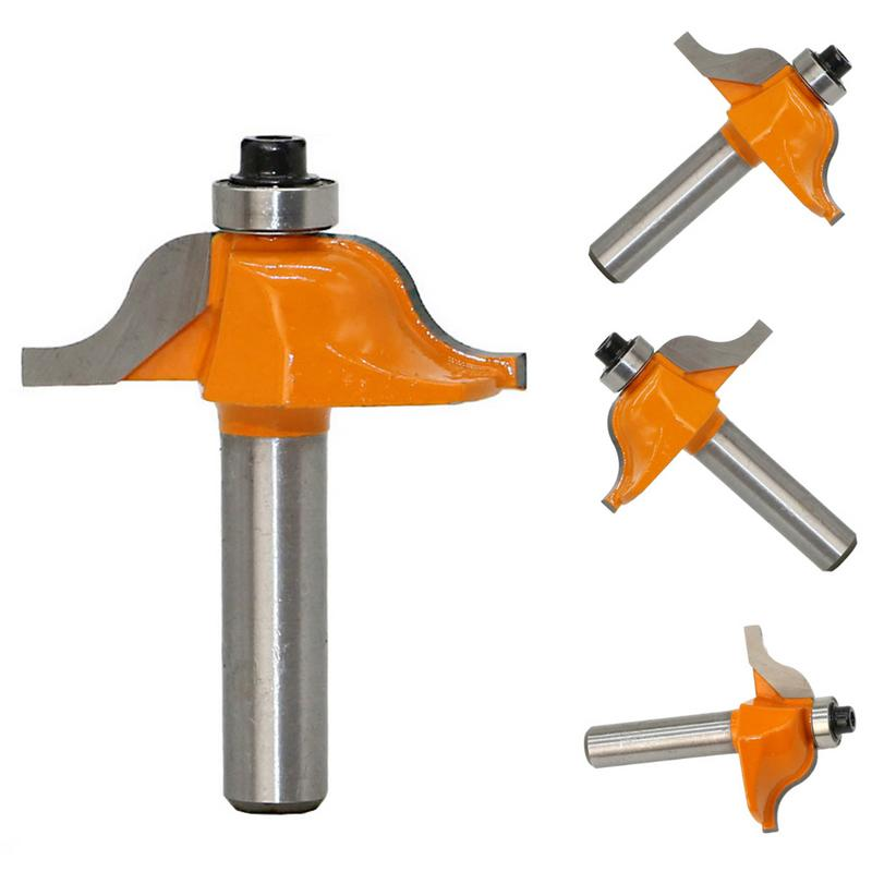 1PC 8mm Shank Round Over And Beading Edging Router Bit Set Carbide Tipped Tenon Cutter For Woodworking Tools Wood Router