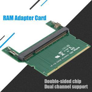 Image 5 - DDR2/DDR3 Laptop SO DIMM para Cabos Conectores Adaptador Adaptador de Cartão de Memória RAM Do Computador Desktop DIMM RAM Placa Adaptadora promoção