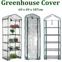 69 x 49 x 187cm Apex-Roof 5-Tiers Garden Greenhouse Hot Plant House Shelf Shed Clear PVC Cover Keep Warm Good Breathability(China)