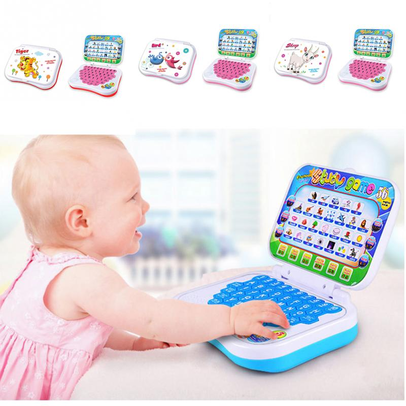 1PCS New Baby Kids Pre School Educational Learning Study <font><b>Toy</b></font> <font><b>Laptop</b></font> Computer Game 15*12*4cm image