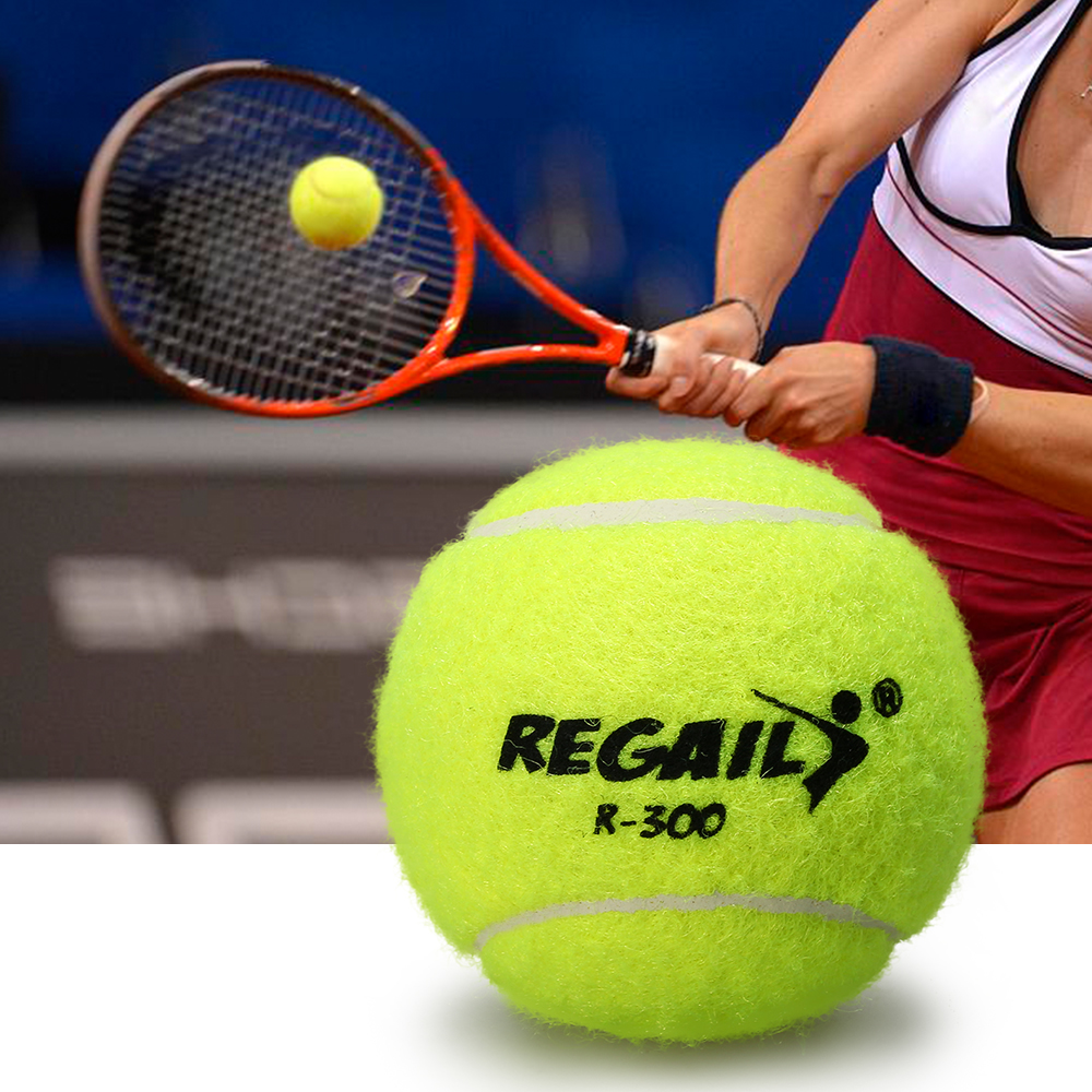 Outdoor Sports Tennis Balls Pressureless Tennis Balls With Mesh Bag Rubber Bounce Training Practice Tennis Balls Pet Toy Balls