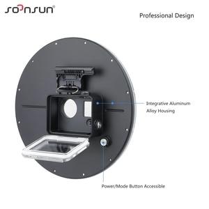 """Image 3 - SOONSUN 6 """"alüminyum alaşım 45M sualtı dalış kamera Lens Dome Port kabuk kapak GoPro Hero 4 3 + 3 git Pro aksesuarları için"""
