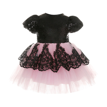 Cute Kids Girl Birthday Dresses Sequins Lace Mini Dress Baby Children Princess Dresses Girls Formal Dress Kids Pageant Ball Gown high quality lace girl dresses children flower princess dress big girl ball gown baby kids wedding costume birthday vestidos