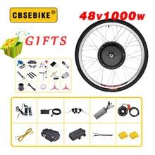 "CBSEBIKE 48V 1000W электрический велосипед комплект для 2"" 26"" 2"" 700C 29 дюймов мотор-колесо ЖК-дисплей, фара для электровелосипеда в набор преобразования для электрического велосипеда"