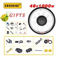 Barato CBSEBIKE 48V 1000W eléctrico kit de bicicleta para 20 26 28 700C 29 pulgadas Motor de