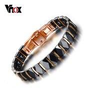 Vnox Hematite Bracelet Women Jewelry Healthy Black Ceramic Bracelets Bangles