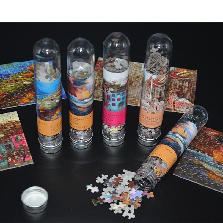 150 PCS Test Tube Jigsaw Pocket Mini Puzzles Creative Birthday Gift Adult Children Leisure Travel Puzzle Toys