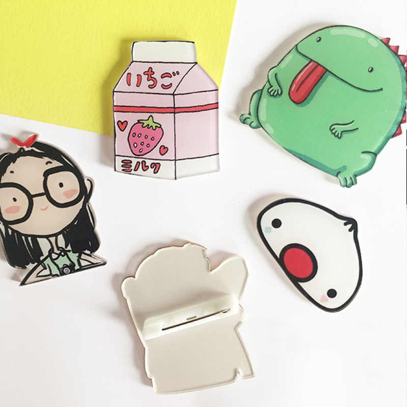 1 Pcs/set Kartun Kucing Gajah Strawberry Bros Akrilik Badges Icons Di Ransel Pin Lencana Dekorasi Lencana untuk Pakaian