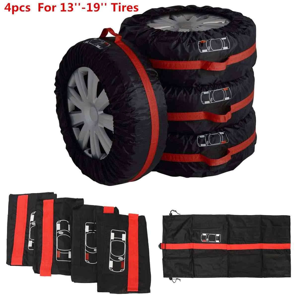 50021b157e 4pcs Car Spare Tire Wheel Protection Cover Storage Bag Vehicle Automobile  Tire Accessories Protector for Summer