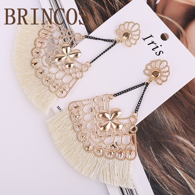 Bohemian Earrings2019 tassel style personality party ladies jewelry fashion statement long retro gold explosion models korean