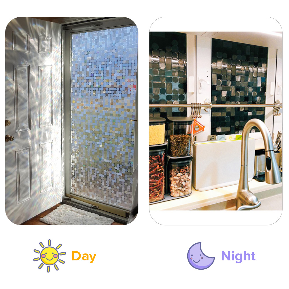 0 3mm 3d Static Cling Dazz Pvc Heat Insulation Opaque Explosion proof Glass Films No glue Decorative Sticker living Window Film in Decorative Films from Home Garden
