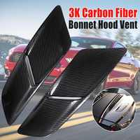 New A Pair Car Front Hood Vents For Ford For Mustang 2015-2017 3K Carbon Fiber 5432 Car Air Intake Scoop Bonnet Hood Vent