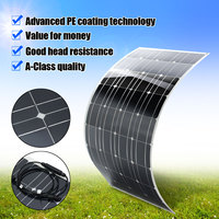 120W 12V Flexible Solar Panel Plate Solar Charger for Car Battery Charging 18V Monocrystalline Cell Module For Hause,Roof,Boat