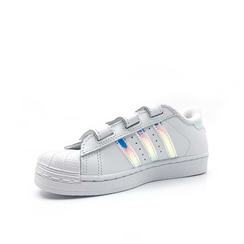 6d0880eb0bb ... Adidas Clover SuperStar The Gold Standard Shell Head Small White Shoes  Magic Baby Stick KIDS Shoes ...