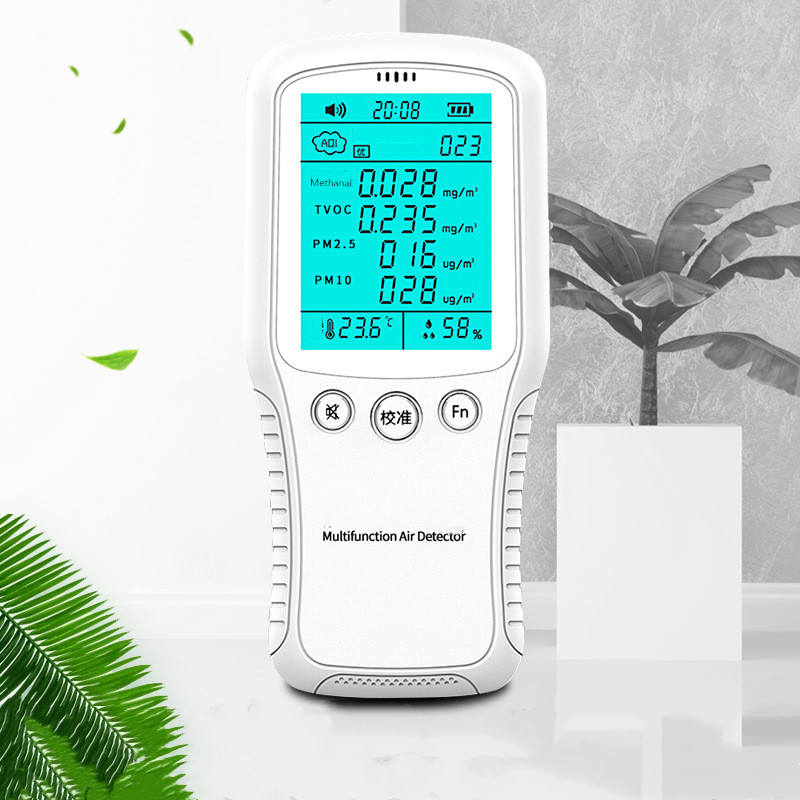 Formaldehyde TVOC Detector PM2 5 PM10 PM 2 5 Detectors Indoor Air Quality Monitor Temperature Humidity