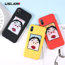 USLION Funny Selfie Big Nostrils Phone Case For iPhone 6 7 8 Plus X XR XS Max Cases 11 Soft Silicon Back Cover