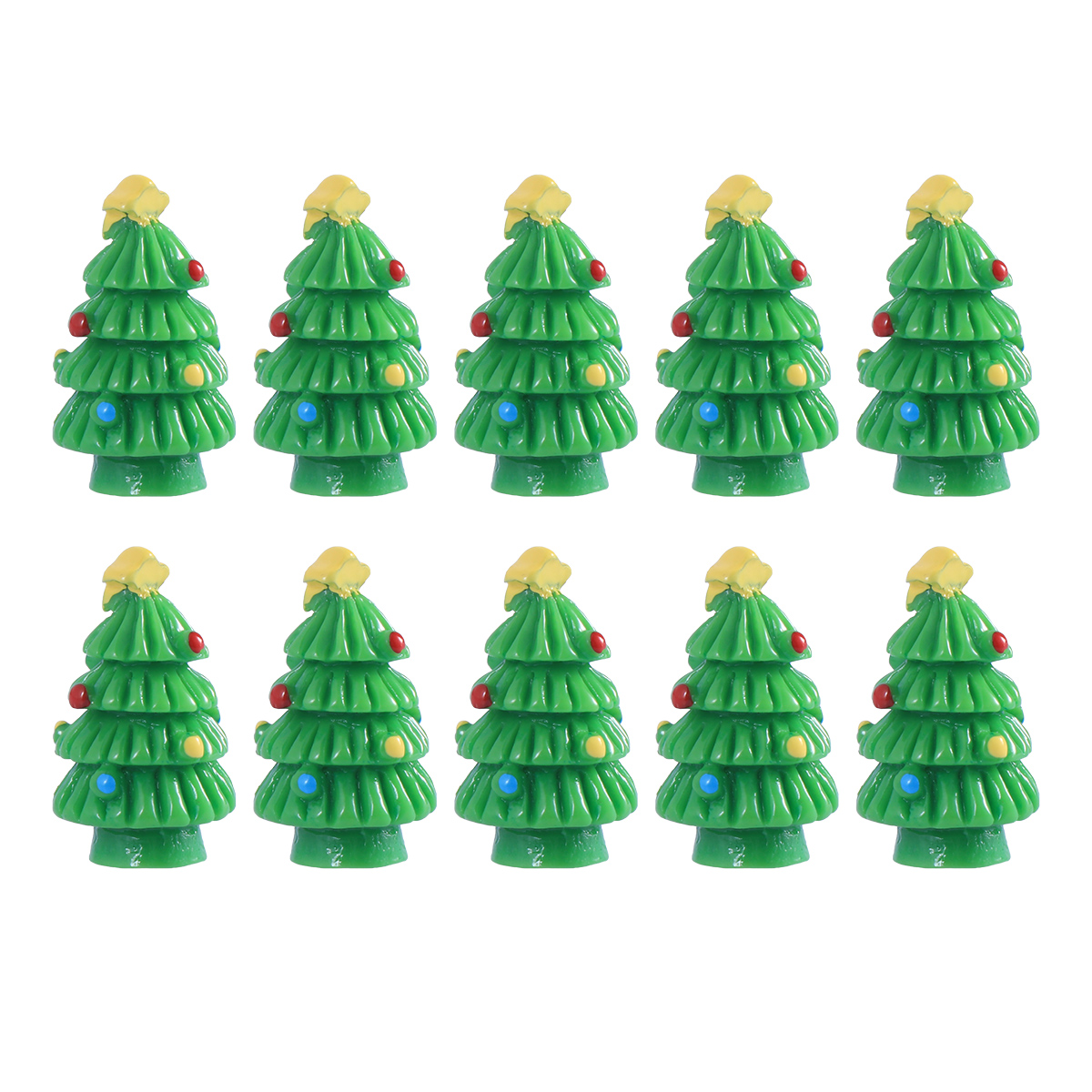 Detail Feedback Questions About 10pcs Miniature Resin Christmas Tree