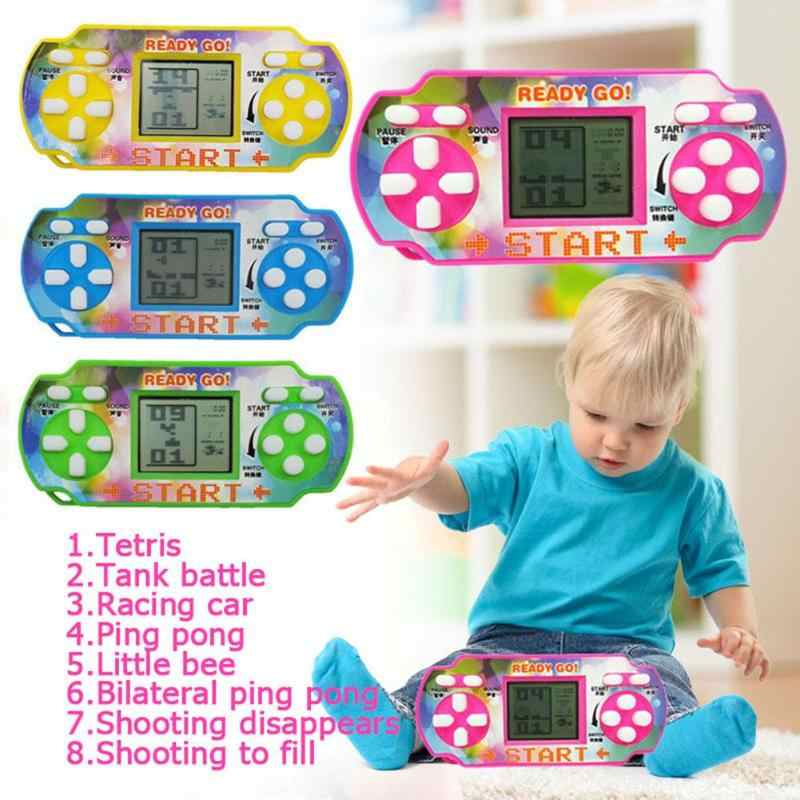 Tetris Game Console LCD Handheld Game Players Children Educational Anti-stress Electronic Toys Random Color ship