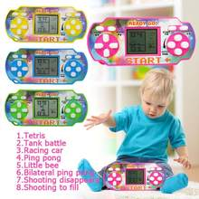 Tetris Game Console LCD Handheld Game Players Children Educational Anti-stress Electronic Toys Random Color ship(China)