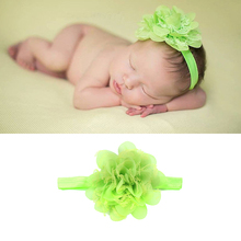 Colorful Baby Headband Cute Flower Hair Accessories Girl Headbands Make Up Band Ears Tie