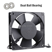 1pcs Gdstime 12cm 120mm 220V/240V Ball Bearing 50/60Hz Iron Frame AC Fan Exhasut Indsutry Cooling