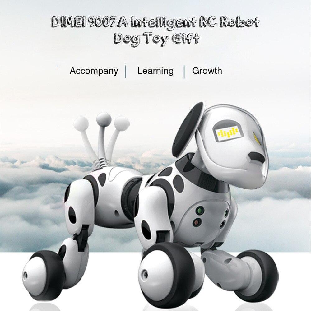 Intelligent Robot chien 2.4G sans fil télécommande chien Intelligent parlant Robot chien jouets électronique Pet enfants jouet anniversaire cadeau de noël