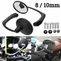 Motorcycle Rearview Side Mirror with 8/10mm Screws Universal Round Retro Modified Motorbike Cafe Racer Rear view Mirrors