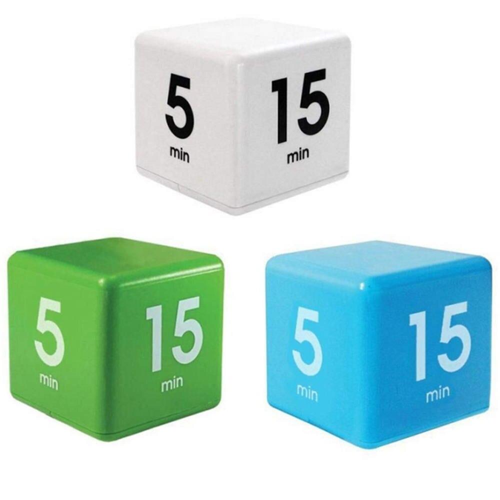 ¡Producto en oferta! Temporizador en forma de cubo para Yoga, recordatorio de siesta, temporizador para cocina, 5, 15, 30 y 60 minutos, tiempo de gestión de suministro Ultra grande, pantalla de 3