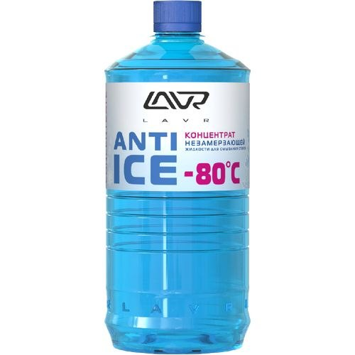 Washer glasses winter LAVR Anti ice concentrate (-80) 1 L washer glasses summer orange anti fly lavr 1l concentrate 1 4