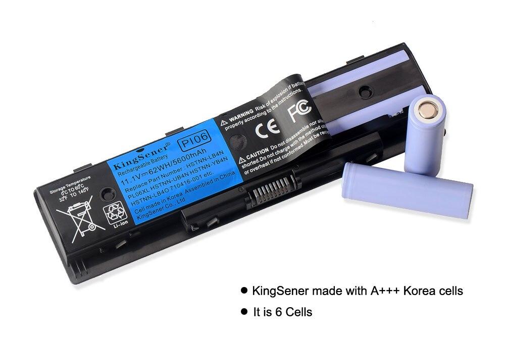 KingSener Korea Cell PI06 ბატარეა HP Enyy 14 15 17 - ლეპტოპის აქსესუარები - ფოტო 2