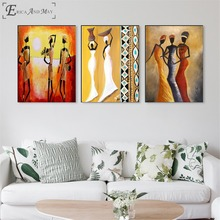 African Woman Canvas Printed Painting Wall Pictures Home Decor Posters And Prints Art For Living Room Decoration No Frame стоимость