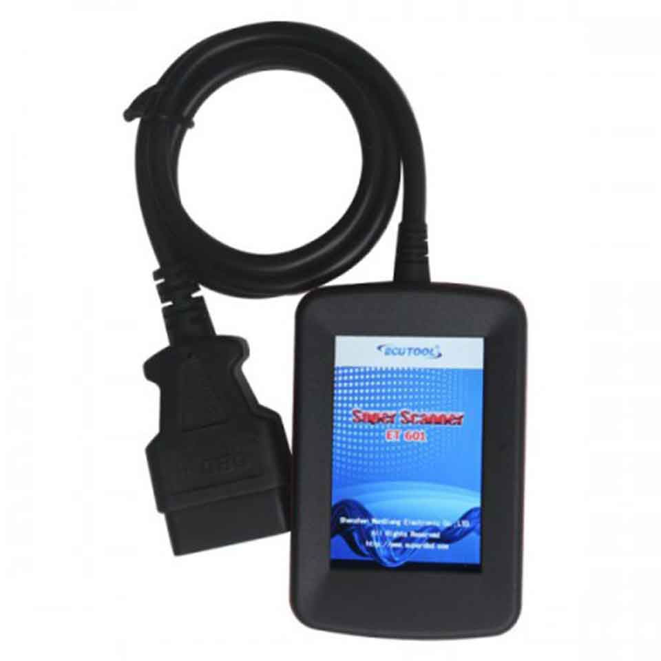 ECU Tool ET601 Super Scanner OBDII/EOBD LCD Car Diagnostic Tool obd2 ET 601 clears codes and resets monitors Diagnostic Scanner galletto 1260 obdii eobd ecu remap diagnostic chip flashing cable