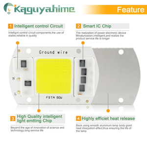 Image 4 - Kaguyahime AC 220V Integrated COB LED Lamp Chip 50W 30W 20W 10W 5W Smart IC Driver For DIY Floodlight Spotlight Projector Grow