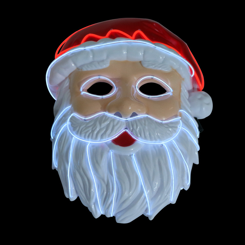 Christmas Santa Claus LED Mask Light Up Ball Mask The Purge Election Great Year Festival Cosplay Costume Party Mask New 2018