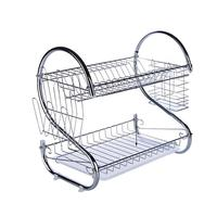 45 x 25 x 39 cm Stainless steel Kitchen Dish Cup Drying Rack Drainer Dryer Tray Cutlery Holder Organizer