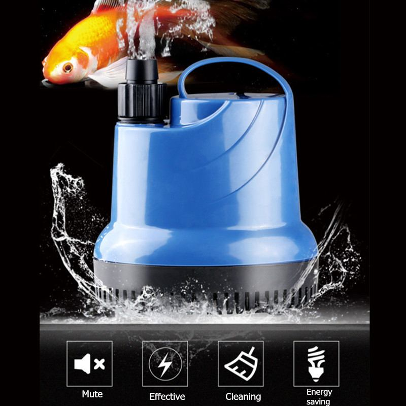 Durable Submersible Water Pump Fish Tank Circulating Aquarium 15/20/40/55/80W 220V Fountain Hydroponic Safety Energy Save Filter