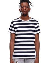 77f0c0554 Camisa listrada T para Homens Slim Fit Preto Branco Marinho Vermelho Mesmo  Tarja Homem Camiseta de Manga Curta Moda O Pescoço li.