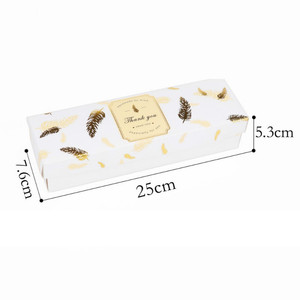 Image 4 - 20 ADET Düğün Kutusu Şeker Çikolata Tatlı Hediye Kutusu Ambalaj Siyah Bronzlaşmaya Tüy Doğum Günü Partisi Favor Kağıt Torba Kek kutusu