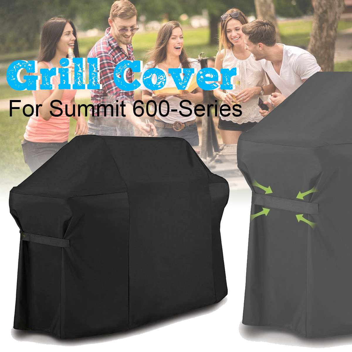 Waterproof BBQ Grill Cover for Summit 600-Series Portable Outdoor BBQ Accessories Anti Dust Rain Protector for Kitchen Grill NEWWaterproof BBQ Grill Cover for Summit 600-Series Portable Outdoor BBQ Accessories Anti Dust Rain Protector for Kitchen Grill NEW