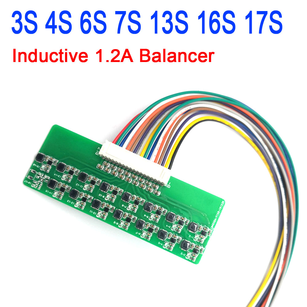 DYKB 3S 4S 6S 7S 13S 16S Li-ion Lipo Lifepo4 Lithium Battery Active Equalizer Balancer Energy Transfer Board BMS 1.2A Balance