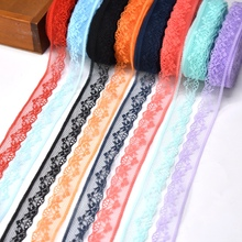 Wholesale cheap 10yards/Lot lace ribbon 20mm Wide net fabric white cotton trimmings DIY Embroidery Sewing Accessories