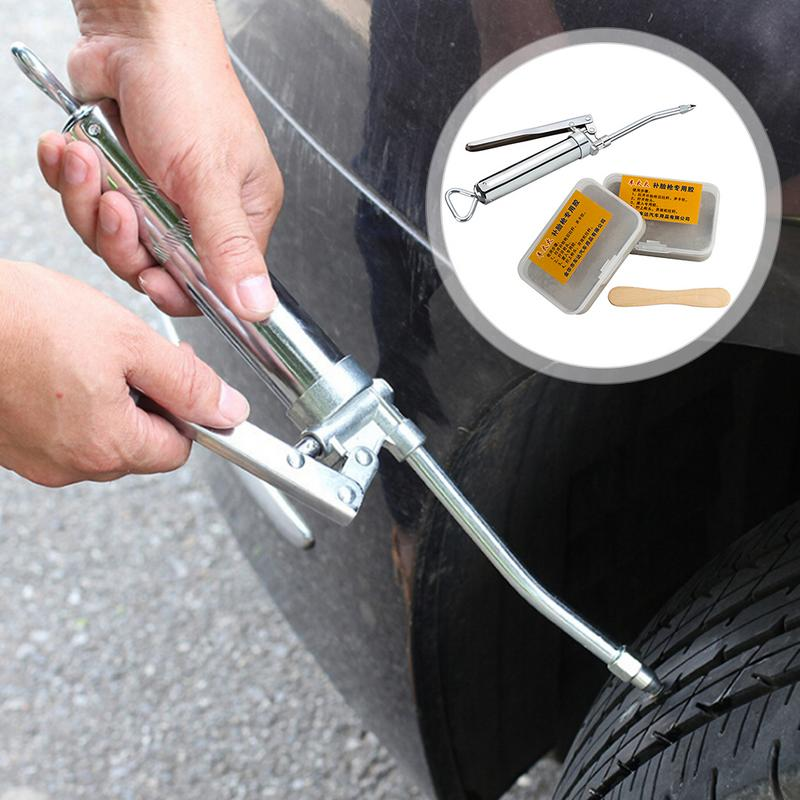 2nd Generation Upgraded Car Tire Repair Kit Inner Tire Rubber Strip Emergency Vacuum Tire Fast Repair Tool With Long Strip Fill