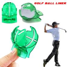 Golfbal Line Liner Golf Club Marker Template Drawing Alignment Marks Putting Lijn Met Pen Tool Club Apparatuur Accessoires(China)