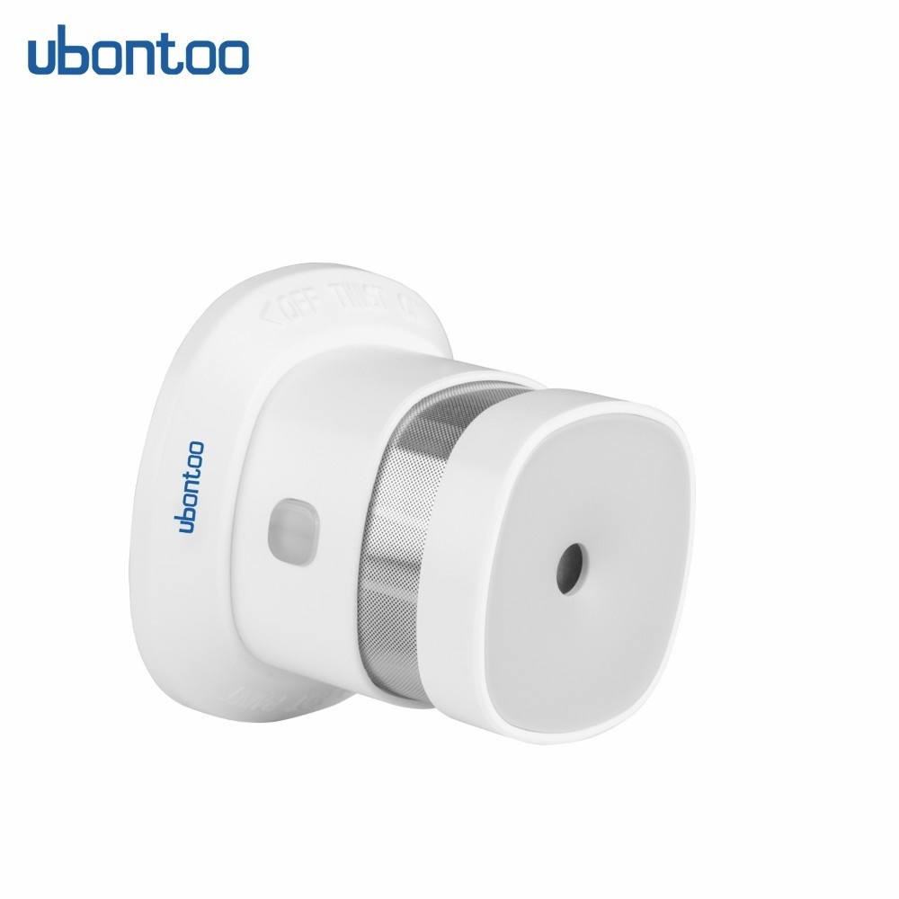 Ubontoo Zwave Smoke Detector Security Fire Alarm High Sensitivity Z-wave Sensor Smart Home System EU Z wave 868MHz