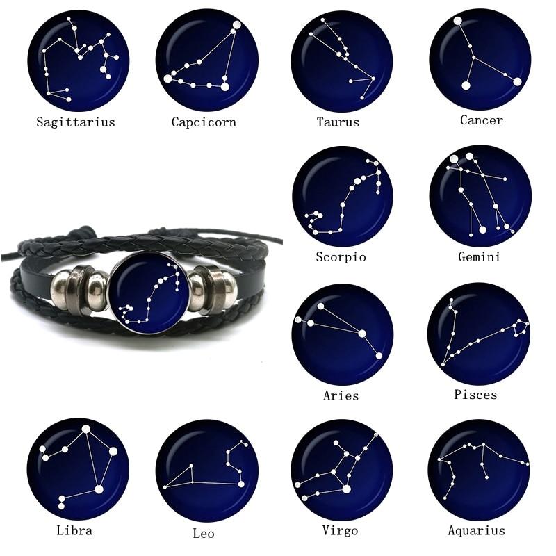 Aliexpress Com Buy 12 Zodiac Signs Constellation: New Fashion 12 Constellation Bracelet Men Women Zodiac