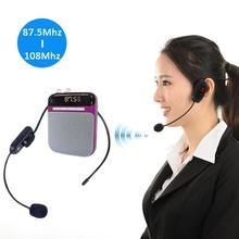 RadioFM Wireless Headset Microphone Handsfree Megaphone Mic for Loudspeaker