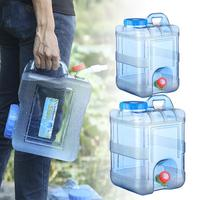 15L 20L Pure Water Plastic Bucket Home Water Storage Container With Lid Car Self driving Tour With Faucet Mineral Water Barrel